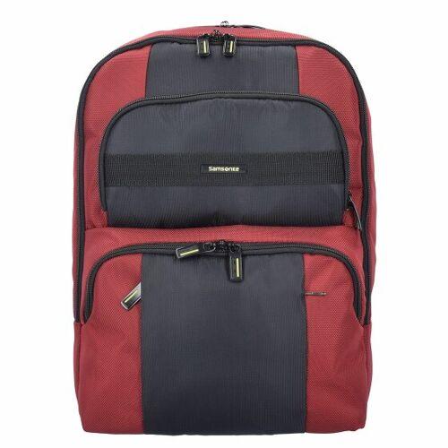 Samsonite Infinipak Sicherheits Rucksack 44 cm Laptopfach red black
