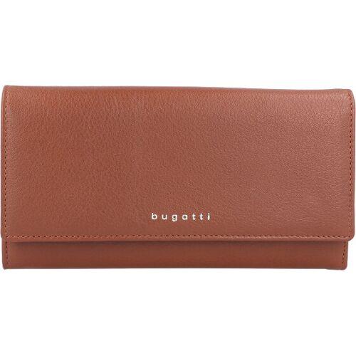 Bugatti Lady Top Geldbörse Leder 20 cm cognac