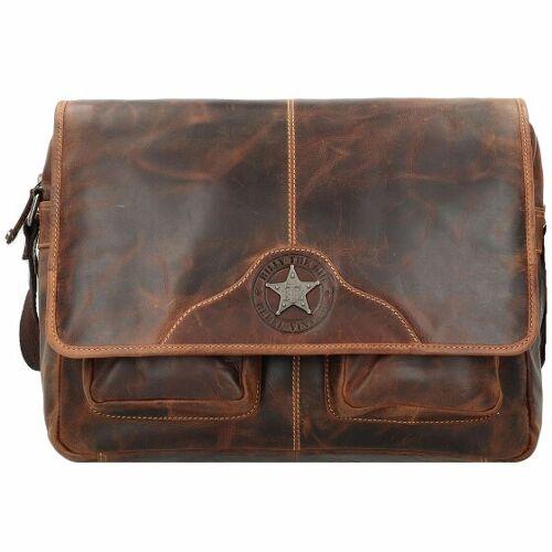 Billy the Kid Ranger Messenger Leder 38 cm Laptopfach brown