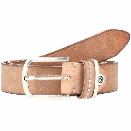 b.belt Fashion Basics Cleo Gürtel Leder beige 100 cm