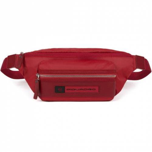 Piquadro PQ-Bios Gürteltasche Leder 33 cm red