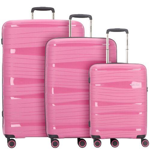 Travelite Motion 4-Rollen Kofferset 3tlg. bonbon