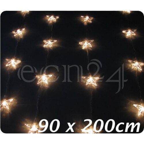 Best Season Lichterkette Sternenkette Vorhang mit 50 Sternen