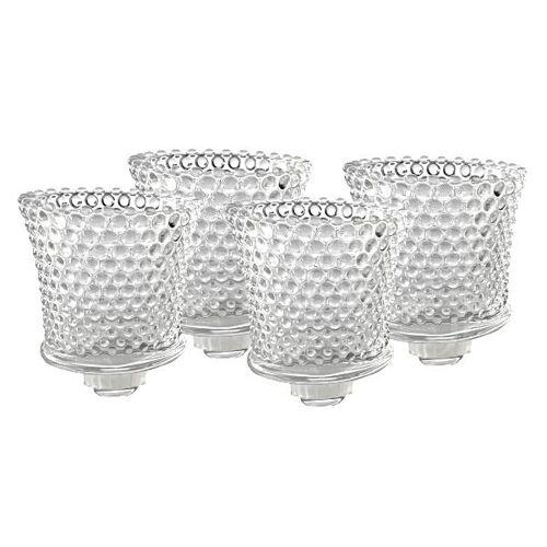 Dragimex Teelichthalter 6cm aus Glas für Kerzenleuchter