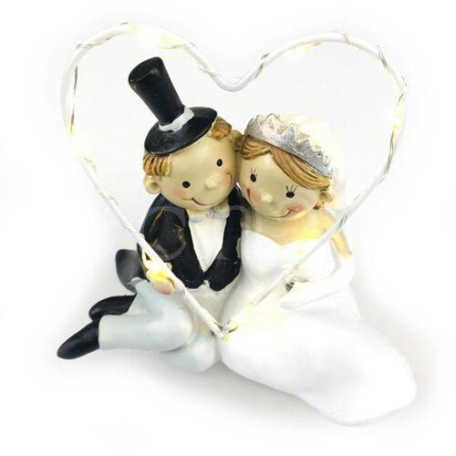 Dragimex Hochzeitspaar Brautpaar mit LED Beleuchtung