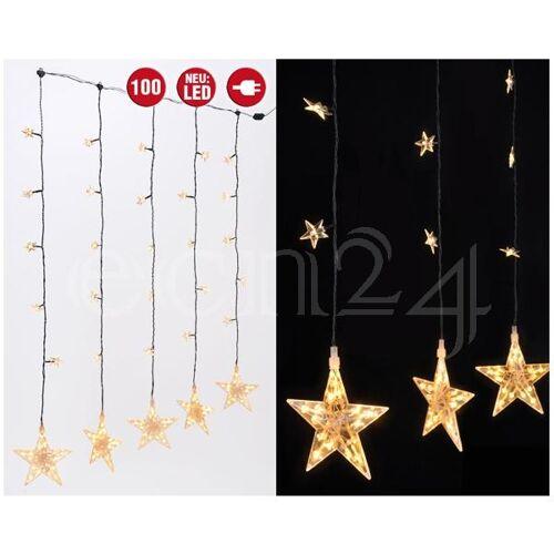HI Lichterkette als Vorhang mit 30 LED Sternen