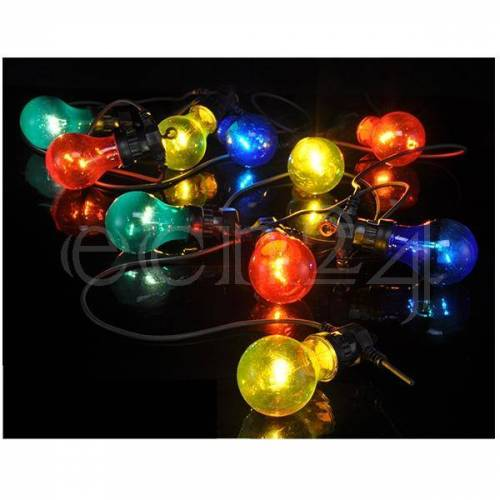 HI Lichterkette Partylichterkette 4,5m mit 10 Lampen