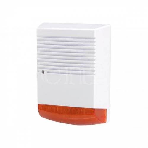 kh-security Dummy Alarmanlage als Hausalarm Attrappe mit LED