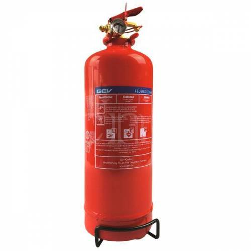 GEV Pulver Feuerlöscher mit 2KG ABC Löschmittel