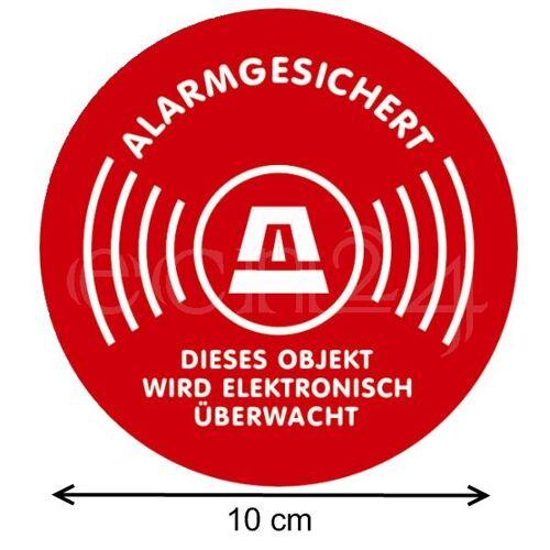 gfx Aufkleber Warnaufkleber Alarmgesichert Kreis