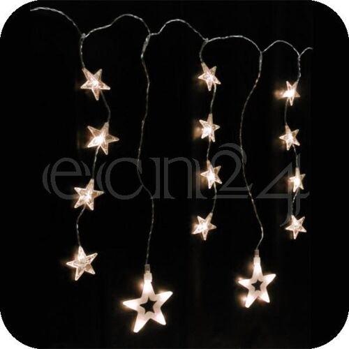 HI LED Lichterkette als Vorhang 160 x 54 cm 46 Sterne