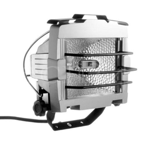 EsyLux Halogenstrahler Baustrahler 500W mit Schutzgitter