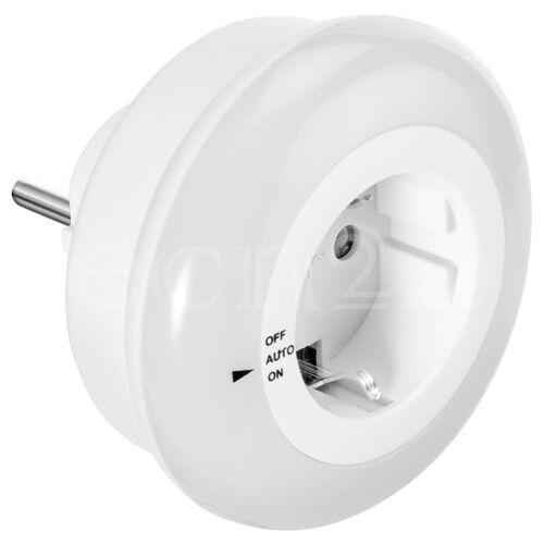 GEV LED Nachtlicht mit Steckdose & Dämmerungsautomatik