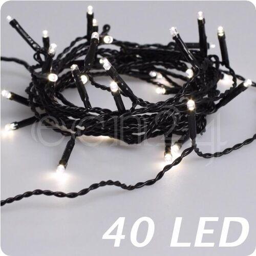 FDL LED Lichterkette warmweiß, schwarzes Kabel