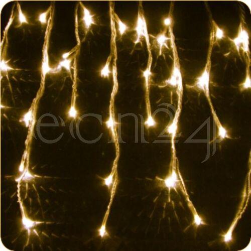 FDL LED Eiszapfen Lichterkette 8m statisches Licht