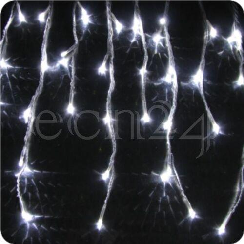 FDL LED Lichterkette Eiszapfen 8m mit Schneefalleffekt