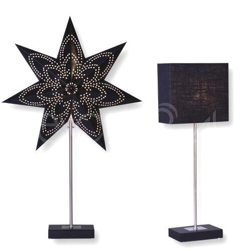 Best Season Tischlampe Combi mit Lampenschirm und Stern