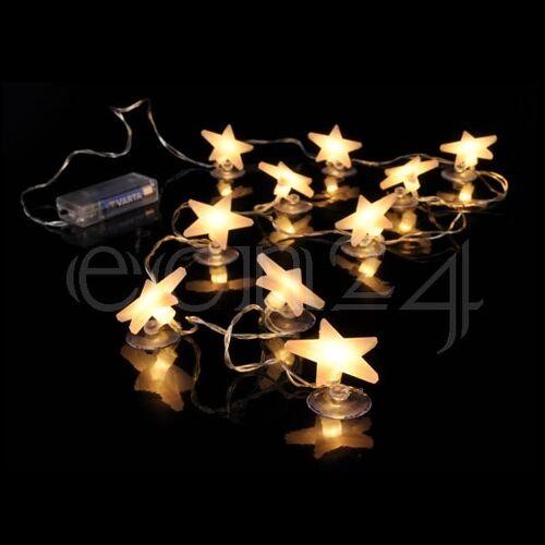 HI LED Lichterkette 10 Sterne 1,8m für Batterie