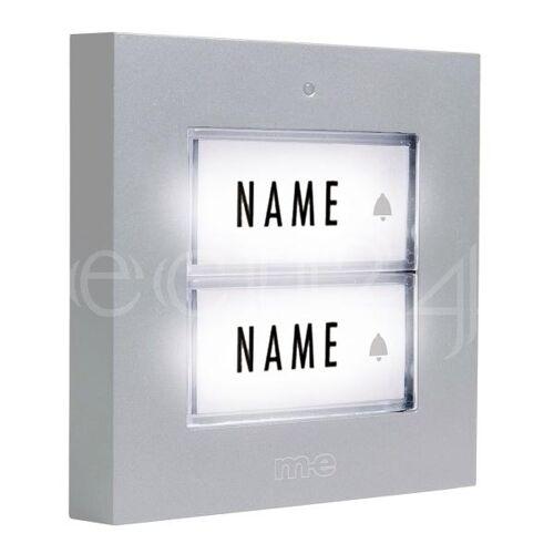 M-E Klingeltaster Türklingel 2 Familien LED Licht