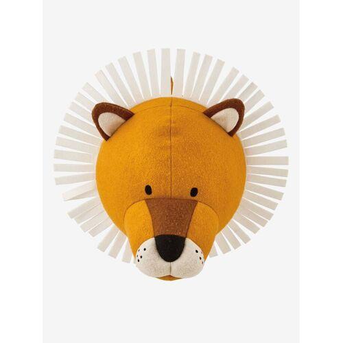 Vertbaudet Dekorativer Plüsch-Löwenkopf, Wandtrophäe orange von vertbaudet