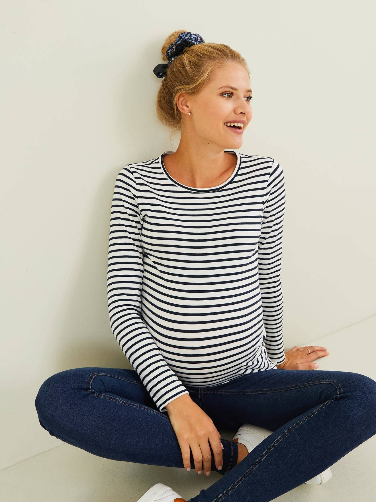 Vertbaudet Shirt Schwangerschaft weiß Gr. 44/46 von vertbaudet