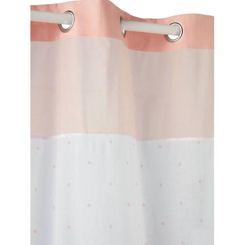 Vertbaudet Vorhang mit Sternen weiß/rosa Gr. 105x240 von vertbaudet