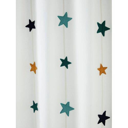 Vertbaudet Vorhang aus Canvas mit Sternen-Girlande weiß/sterne Gr. 105x240 von vertbaudet