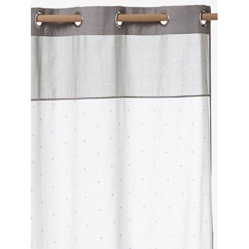 Vertbaudet Vorhang mit Sternen weiß/grau Gr. 105x240 von vertbaudet