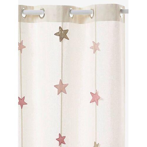 Vertbaudet Vorhang aus Canvas mit Sternen-Girlande weiß Gr. 135x240 von vertbaudet