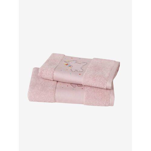 """Vertbaudet Handtuch ,,Einhorn"""" für Kinder rosa Gr. 002 von vertbaudet"""