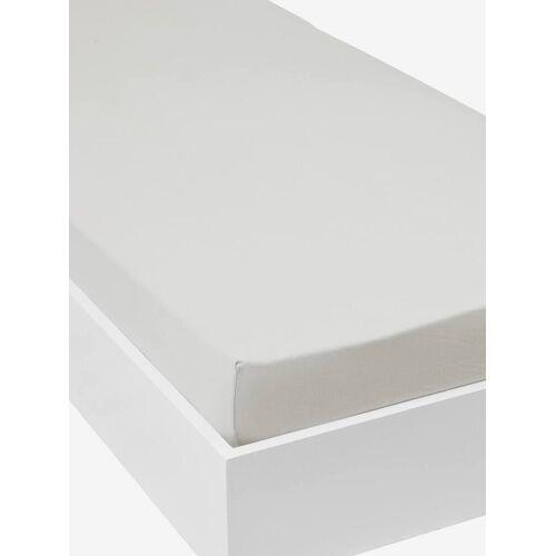 Vertbaudet Jersey-Spannbettlaken für Kinderbetten Oeko Tex® grau Gr. 90x190 von vertbaudet