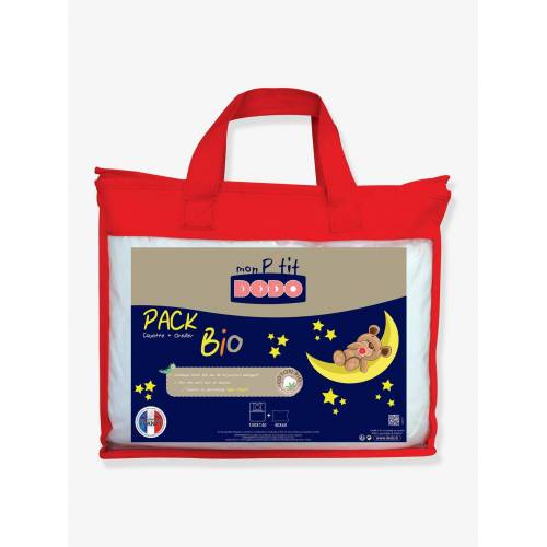 Dodo Bio-Kollektion: Kinder Bettdecke & Kopfkissen Mon P'tit DODO weiß Gr. 100x140