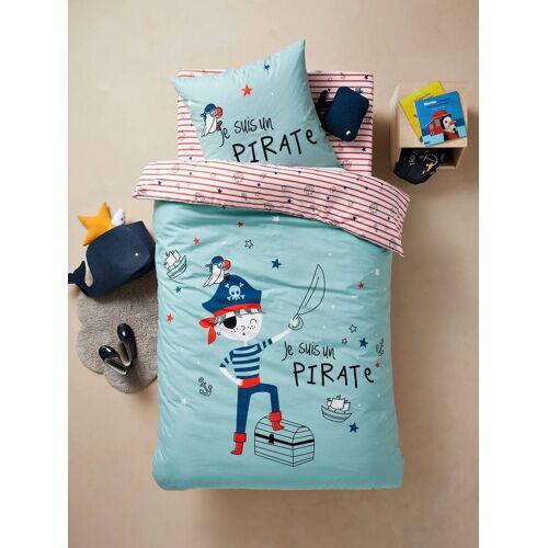 """Vertbaudet Kinder Bettwäsche-Set """"Pirat"""" blau Gr. 140x200 - 50x75 von vertbaudet"""