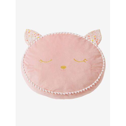 """Vertbaudet Kissen ,,Katze"""" aus Samt rosa von vertbaudet"""