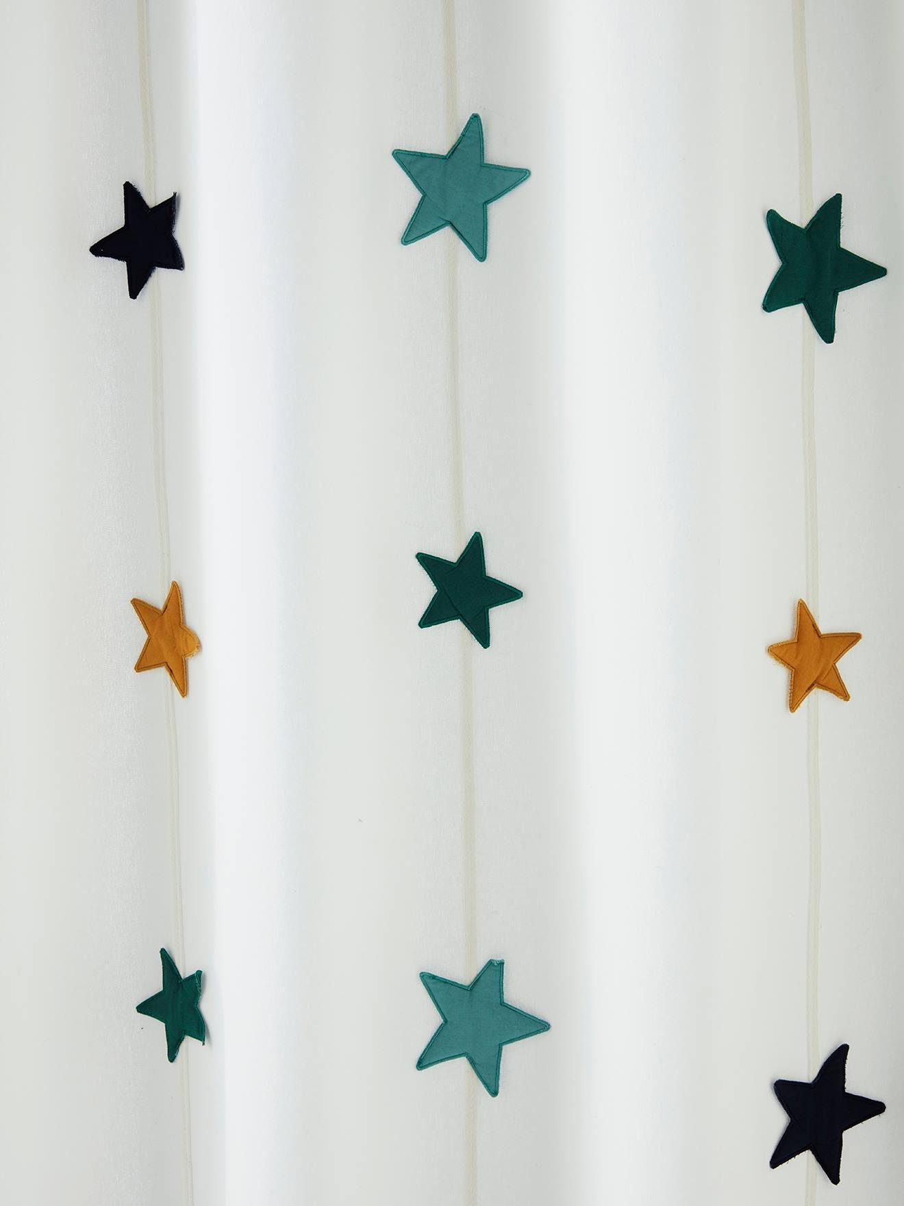 Vertbaudet Kinderzimmer Vorhang mit Sternengirlande weiß/sterne Gr. 135x240 von vertbaudet