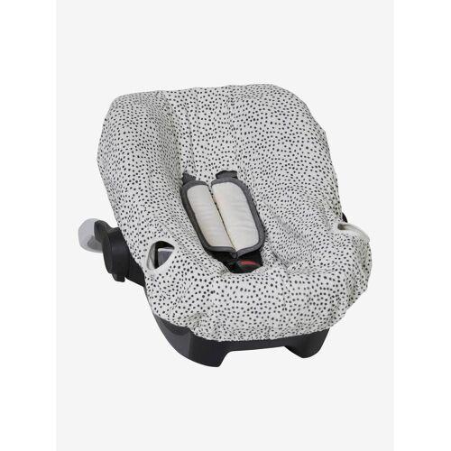 Vertbaudet Schonbezug für Babyschale, elastisch weiß gesprenkelt von vertbaudet