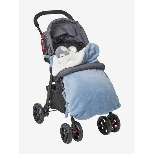 Vertbaudet Wendbare Babydecke blau/dreiecke von vertbaudet