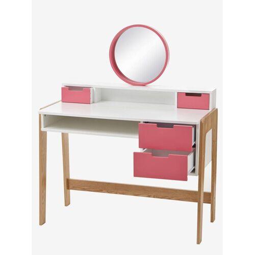 Vertbaudet Mädchen Frisier- & Schminktisch, Schreibtisch weiß/rosa/natur von vertbaudet