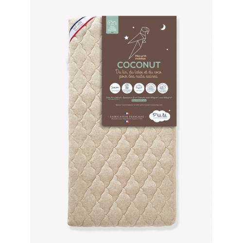 "P'tit Lit Baby Matratze mit Kokosfaser-/Latex-Kern ""Coconut"" P'TIT LIT, 70 x 140 cm beige Gr. 70x140"