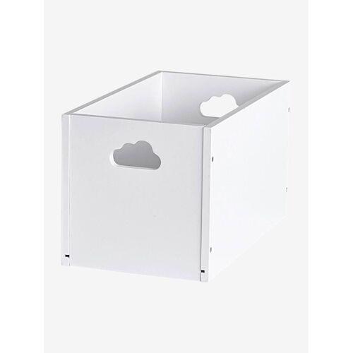 Vertbaudet Kleine Aufbewahrungsbox für Kinder weiß von vertbaudet