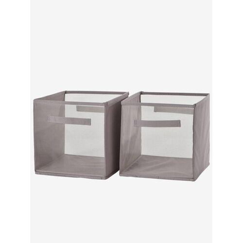 Vertbaudet Durchsichtige Aufbewahrungsboxen im 2er-Set grau von vertbaudet