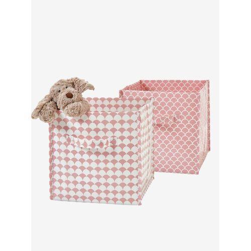 Vertbaudet 2er Pack Aufbewahrungsboxen, modern rosa/rosa von vertbaudet