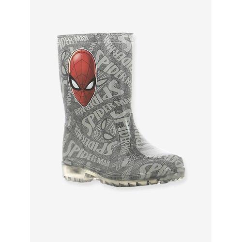 Spiderman Gummistiefel mit Leuchtsohle MARVEL® SPIDERMAN grau Gr. 24