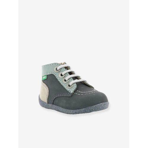 "Kickers Baby Jungen Leder-Boots ""Bonzip 2"" KICKERS® grau blau tricolor Gr. 27"