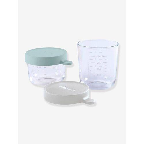 Beaba 2er-Set Aufbewahrungsgläser BEABA® airy green/light mist