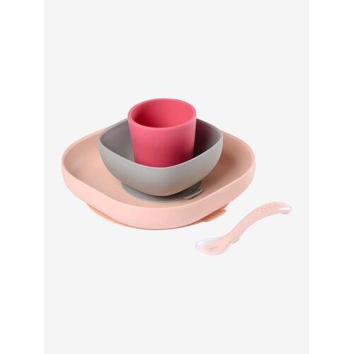 Beaba Kinder Esslern-Geschirr aus Silikon BEABA® rosa