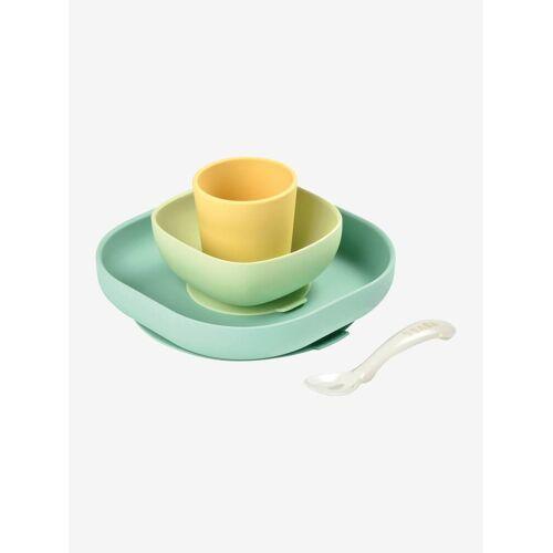 Beaba Kinder Esslern-Geschirr aus Silikon BEABA® gelb