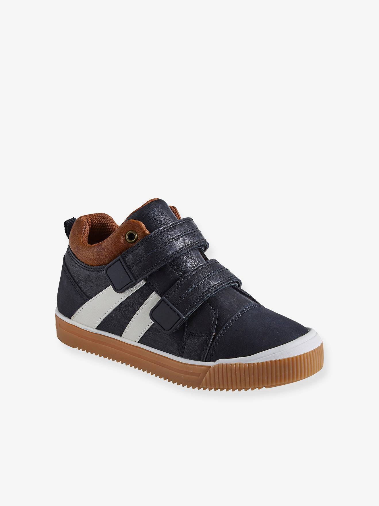 Vertbaudet Hohe Jungen Sneakers, Klettverschluss schwarz Gr. 24 von vertbaudet