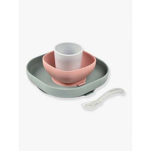 Beaba Baby Esslern-Geschirr aus Silikon BEABA®/eucalyptus