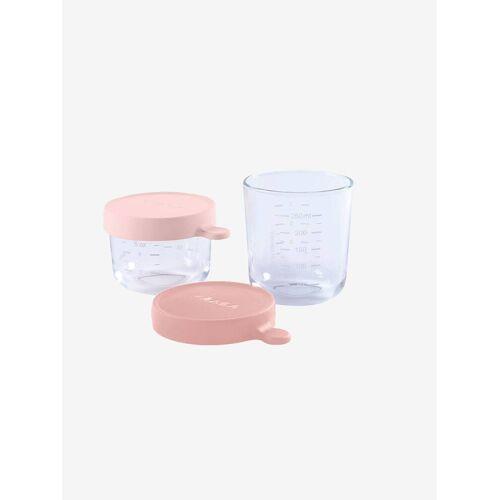Beaba 2er-Set Aufbewahrungsgläser BEABA® rosa/rosa